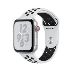 Apple Watch Series 4 Nike+ (GPS + Cellular) 44mm Silver Aluminum w. Pure Platinum/Black Nike Sport (MTXC2)