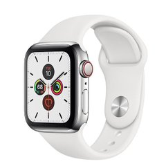 Apple Watch Series 5 LTE 40mm Steel w. White b.- Steel (MWWR2)