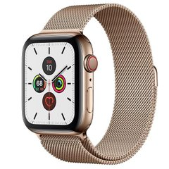 Apple Watch Series 5 LTE 44mm Gold Steel w. Gold Milanese Loop - Gold Steel (MWW62)